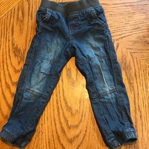 Lined jeans